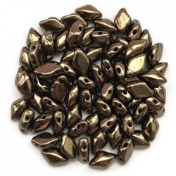 GemDuo koraliki czeskie Bronze 8x5mm