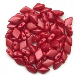 GemDuo koraliki czeskie Pearl Coat Strawberry 8x5mm