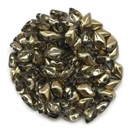 GemDuo koraliki czeskie Amber Crystal 8x5mm