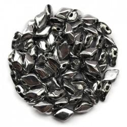 GemDuo koraliki czeskie Silver 8x5mm