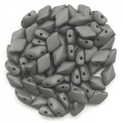 GemDuo koraliki czeskie Saturated Gray 8x5mm