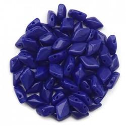 GemDuo koraliki czeskie Opaque Blue 8x5mm