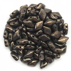 GemDuo koraliki czeskie Opaque Olivine Bronze Picasso 8x5mm