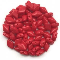GemDuo koraliki czeskie Opaque Red 8x5mm