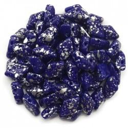 GemDuo koraliki czeskie Silver Splash Opaque Blue 8x5mm
