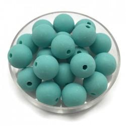 Kulki, koraliki plastikowe matowe turkus 10mm