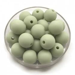 Kulki, koraliki plastikowe matowe jasno zielony 10mm