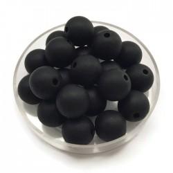 Kulki, koraliki plastikowe matowe czarny 10mm