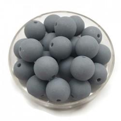 Kulki, koraliki plastikowe matowe szaro niebieski 10mm