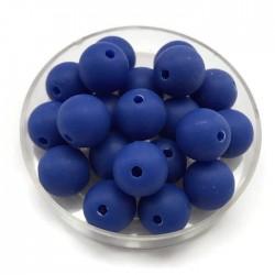 Kulki, koraliki plastikowe matowe ciemno niebieski 10mm