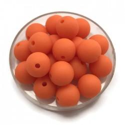 Kulki, koraliki plastikowe matowe pomarańczowy 10mm