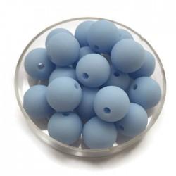 Kulki, koraliki plastikowe matowe błękit 10mm