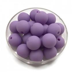 Kulki, koraliki plastikowe matowe fiolet 10mm