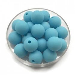Kulki, koraliki plastikowe matowe jasno niebieski 10mm