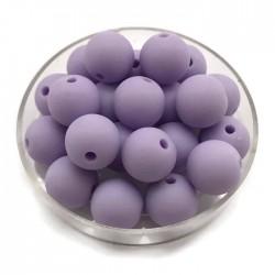 Kulki, koraliki plastikowe matowe średni fiolet 10mm
