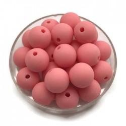 Kulki, koraliki plastikowe matowe róż 10mm