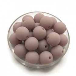 Kulki, koraliki plastikowe matowe jasny fiolet 10mm