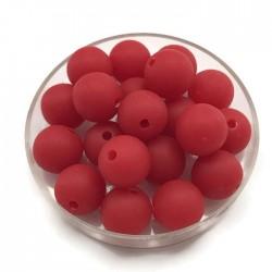 Kulki, koraliki plastikowe matowe czerwony 10mm