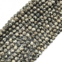 Jaspis kulka 6mm mix szary sznurek