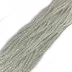 Szkło fasetowane oponka 3x2mm sznur biały mleczny A