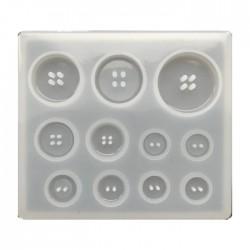 Forma do żywicy forma silikonowa do odlewów guziki mix 89x78mm