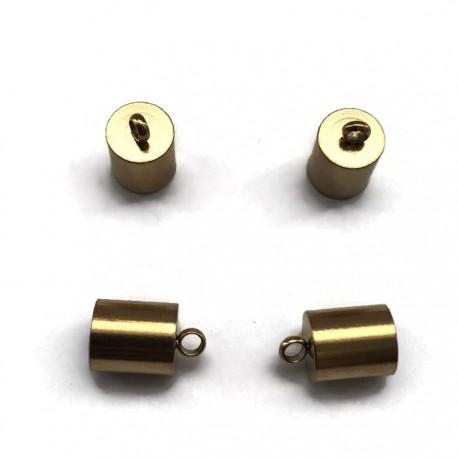 Końcówki do wklejania 6,5mm stal nierdzewna złota