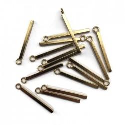 Zawieszka patyczek 23x1,5mm stal nierdzewna złota