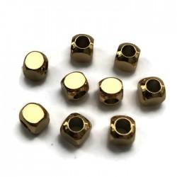 Przekładka kosteczka  5x5mm stal nierdzewna złota