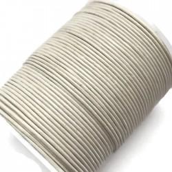 Rzemień naturalny okrągły 1,5mm - biały