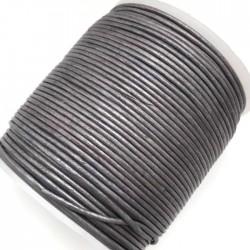 Rzemień naturalny okrągły 1,5mm - Średni fiolet metalik