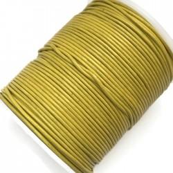 Rzemień naturalny okrągły 1,5mm - Żółty