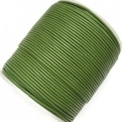 Rzemień naturalny okrągły 1,5mm - Zielony