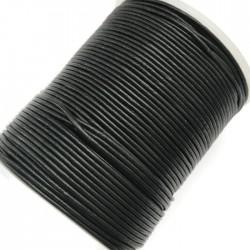Rzemień naturalny okrągły 1,5mm - Czarny