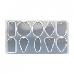 Forma do żywicy forma silikonowa do odlewów zawieszki mix 169x93mm