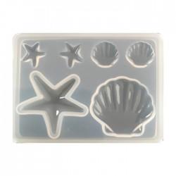 Forma do żywicy forma silikonowa do odlewów morski mix 85x61mm