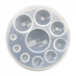 Forma do żywicy forma silikonowa do odlewów kaboszony fasetowane mix 96mm
