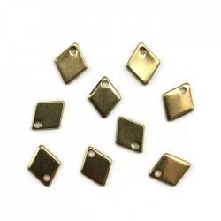 Zawieszka romb 9x7mm stal nierdzewna złota