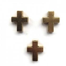 Przekładka krzyżyk 15x12mm cyna złota