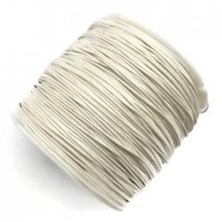 Sznurek bawełniany woskowany 0,65mm - biały