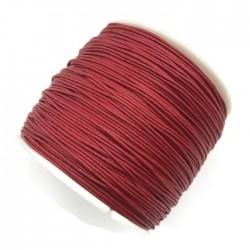 Sznurek bawełniany woskowany 0,65mm - czerwony