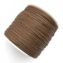 Sznurek bawełniany woskowany 0,65mm - brązowy