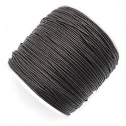 Sznurek bawełniany woskowany 0,65mm - ciemny brąz