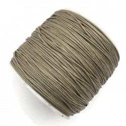 Sznurek bawełniany woskowany 0,65mm - jasny brąz