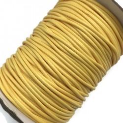 Sznurek jubilerski nabłyszczany 2mm - żółty
