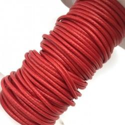 Sznurek jubilerski nabłyszczany 2mm - czerwony