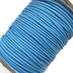 Sznurek jubilerski nabłyszczany 2mm - niebieski