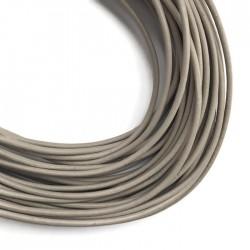 Rzemień naturalny okrągły 3mm - Jasny Cappuccino