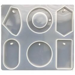 Forma do żywicy forma silikonowa do odlewów 176x159mm zawieszki mix