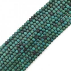 Chryzokola barwiona kulka 4mm mix sznurek