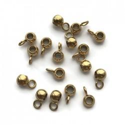 Krawatka 7x4x3mm stal nierdzewna złota
